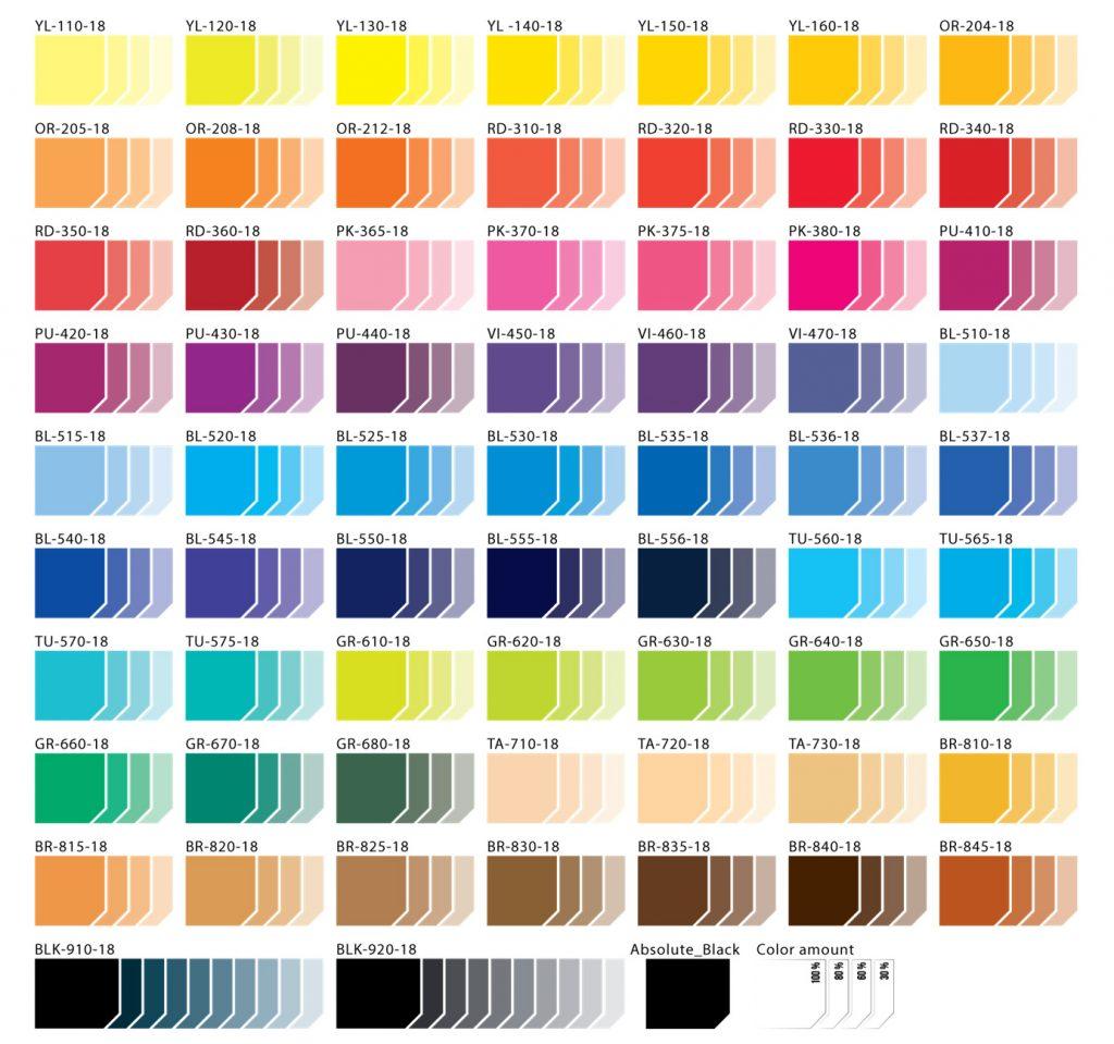 KCC kleurenpalette