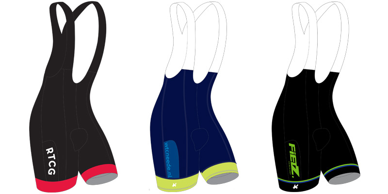 KCC Custom Teamkleding fietsbroek model PURE S voorbeelden
